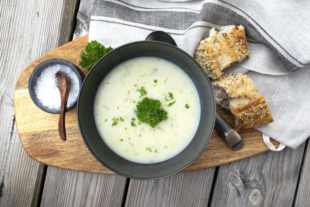 Recept od juhe od poriluka od krumpira: kako olakšati juhu od krumpira s porilukom