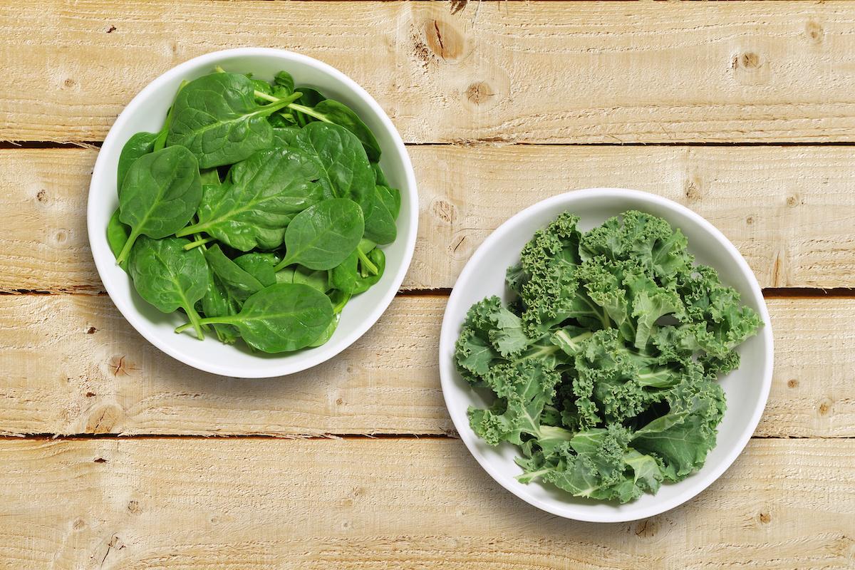 Bataille des Super Verts : Kale Vs. Épinard