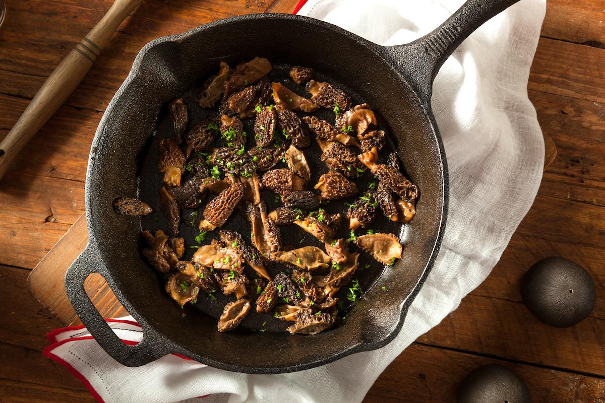 Comment cuisiner avec des morilles: recette de champignons morilles poêlés